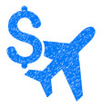 aviation business grunge icon vector image vector image