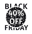 black friday sale banner with white random points vector image vector image