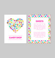candy shop banner templates set with colorful vector image vector image