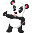 cartoon panda presenting vector image vector image