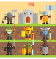 Castle and Knights Medieval Game Set vector image vector image