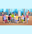 casual business people working together in vector image
