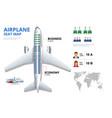 chart airplane seat plan aircraft passenger vector image