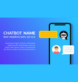 chatbot phone call flat customer service vector image