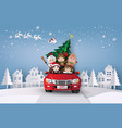 christmas and winter vector image vector image
