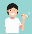 cut a cigarettesconcept for anti smoking vector image vector image