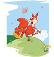 Cute Squirrel Cartoon Character vector image vector image