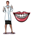 dantist and smile vector image vector image