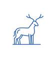 deer line icon concept deer flat symbol vector image vector image