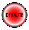detonate button vector image vector image