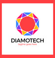 diamond tech logo vector image vector image