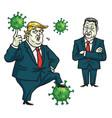 donald trump xi jinping fighting coronavirus vector image vector image