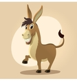 Donkey character in cartoon style vector image vector image