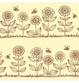 doodle seamless pattern vector image