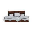 double bed icon image vector image