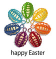 easter holiday background with rainbow eggs vector image vector image