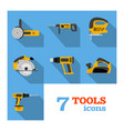 electric tools icons vector image vector image