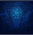 electronic lightbulb vector image vector image