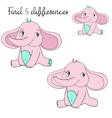Find differences kids layout for game elephant vector image vector image