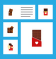 flat icon chocolate set of shaped box cocoa vector image vector image