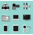 Flat icon set Device White style vector image vector image