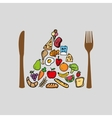 food nature healthy vegetables vector image vector image