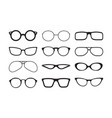 glasses silhouette fashioned stylish accessories vector image