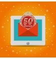 half price discount online marketing vector image