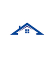 house roof construction realty logo vector image vector image