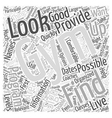 Important Things to Look for in a Gym Word Cloud vector image vector image