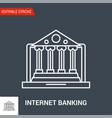 internet banking icon line vector image vector image