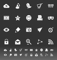 Internet useful icons on gray background vector image vector image