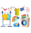 laundry room equipment for wash and dry clothes vector image vector image