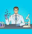 medical chemist scientist pop art vector image vector image