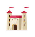 medieval stone castle isolated icon vector image vector image