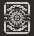 nautical heritage typography on black background vector image