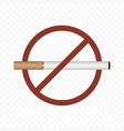 no smoking sign on a transparent vector image