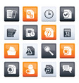 organizer communication and connection icons vector image vector image
