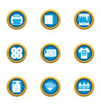 paint over icons set flat style vector image vector image