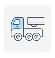 pipe transportation icon vector image vector image