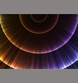rainbow circle radiation abstract line layer backg vector image