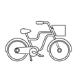 retro bicycle isolated icon design vector image vector image