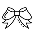 ribbon bow icon outline style vector image