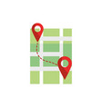 route pointer gps map and navigation vector image