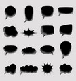 set empty speech bubbles black with with noise vector image vector image