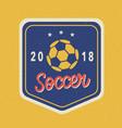 soccer tournament 2018 logo template vector image vector image