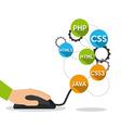 software development vector image vector image