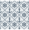 steering wheel and anchor seamless pattern vector image