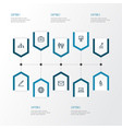 trade outline icons set collection of statistics vector image vector image