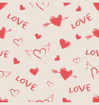 valentine day seamless pattern vector image vector image